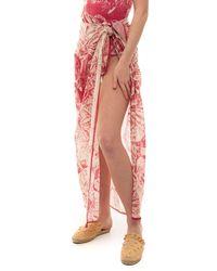 RED Valentino Pareo Pink Cotton