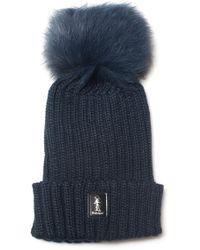Refrigue - Rib Hat With Pom Poms - Lyst