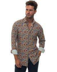 Carrel Casual Shirt Beige Viscose - Natural