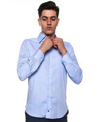 Carrel Camicia classica da uomo - Blu