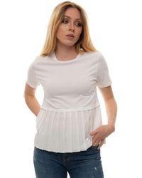 Roy Rogers Round-necked T-shirt White Cotton