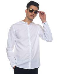 Emporio Armani - Long-sleeved Cotton Shirt - Lyst
