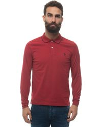 U.S. POLO ASSN. Polo Shirt Long Sleeves Red Cotton
