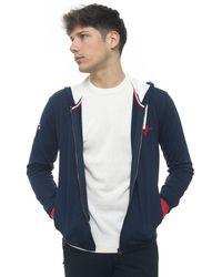 U.S. POLO ASSN. Sweatshirt With Hood Blue Cotton