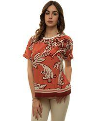 Seventy T-shirt Rosa/beige Cotton - Multicolour