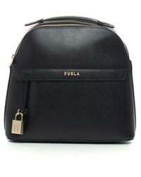 Furla - Piper Leather Rucksack Black Leather - Lyst