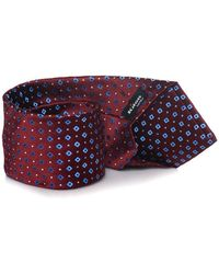 Kiton Cravatta Rosso Seta