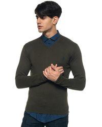 U.S. POLO ASSN. V-neck Pullover - Green