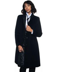 Emporio Armani Classical Coat Black Angora Wool