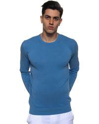 Andrea Fenzi Round-necked Pullover - Blue