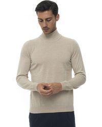 BOSS by HUGO BOSS Musso Virgin Wool Turtleneck Sweater - Natural