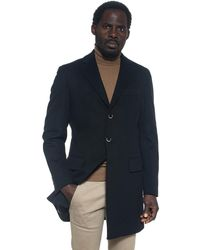 Angelo Nardelli Coat With 3 Buttons - Black