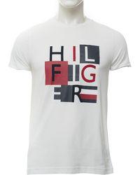 Tommy Hilfiger T-shirt Bianco Cotone
