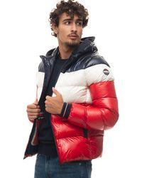 Vuarnet Tamigi Hooded Down Jacket Blu/rosso Polyamide - Red