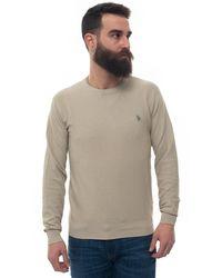 U.S. POLO ASSN. Round-neck Pullover Beige Cotton - Natural