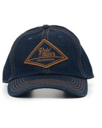 Roy Rogers Peaked Hat Denim Cotton - Blue
