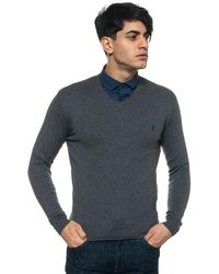 U.S. POLO ASSN. V-neck Pullover - Gray