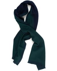 Fay Scarf Green Virgin Wool