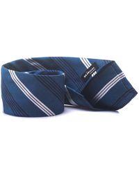 Kiton Tie Bluette/bianco Silk