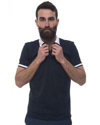 Peuterey Medinilla Tec Short-sleeved Polo Shirt Blue Polyester