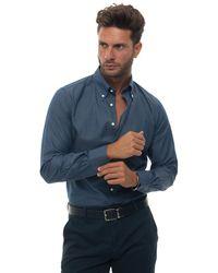 Carrel Casual Shirt Medium Blue Cotton