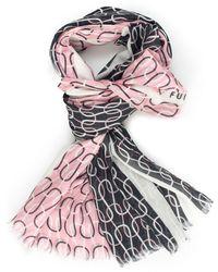 Furla Mimi Stole Rosa/nero Modal - Multicolour