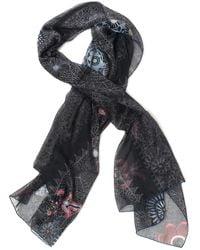 Furla Foulard Black Silk