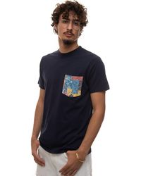 Roy Rogers Round-necked T-shirt Blue Cotton