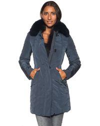 Peuterey Metropolitan Gb Fur Coat - Blue