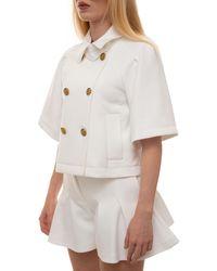 RED Valentino Short Jacket White Polyamide