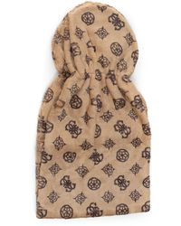 Guess - Scarf Brown Acrylic - Lyst