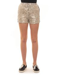 Guess Shorts Silver Polyester - Metallic