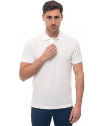 Brooks Brothers Short Sleeve Polo Shirt White Cotton