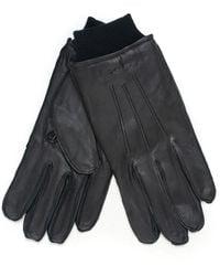 GANT Leather Gloves Black Leather