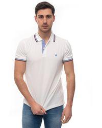 Brooks Brothers Short Sleeve Polo Shirt Bianco/bordeau Cotton - White