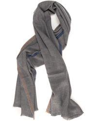 Fay Scarf Light Grey Wool