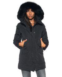 Peuterey Regina Gb Fur Coat - Black