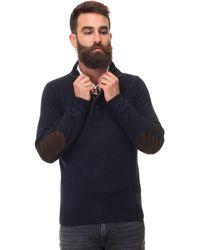Barbour Half Zip Pullover Blue Wool
