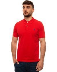 U.S. POLO ASSN. Polo Shirt In Cotton Piquet Red Cotton