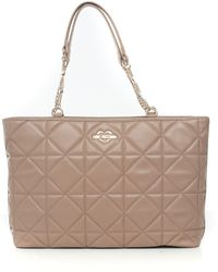 Love Moschino Borsa shopping Beige Pvc - Neutro