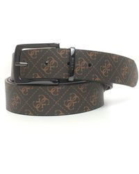 Guess Belt Brown Leather