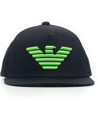 Emporio Armani Cappello berretto regolabile uomo in cotone - Nero