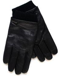 BOSS by HUGO BOSS Hewen Leather Gloves Black Leather