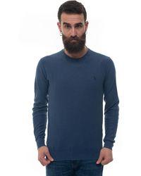 U.S. POLO ASSN. Round-neck Pullover Blue Cotton
