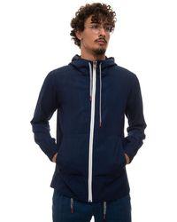Kiton Sweatshirt With Zip Dark Denim Cotton - Blue
