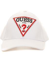 Guess Baseball Cap White Polyester
