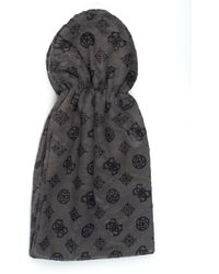 Guess Scarf Black Acrylic