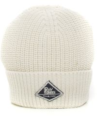 Roy Rogers Hat-ribbed Beanie White Polyester
