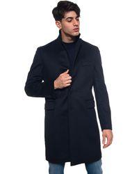 Angelo Nardelli Woollen Coat - Blue