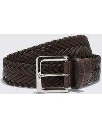 SCAROSSO Cintura Marrone Intrecciata - Brown